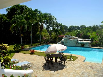 Photo for Luxury 4-Bedroom Villa, Guest-Friendly, Free Shuttle Bus, Private Pool
