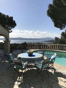 Photo for Spacious dream house overlooking the bay of St. Tropez, terrace, pool, wifi