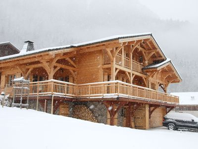 Photo for Picture perfect chalet with stunning views. Located near Morzine.