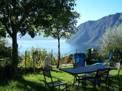 Photo for Beautiful and nicely furnished apartment with view of Lake Iseo.