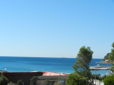 Photo for Air-conditioned house sea view with shaded terrace 100 meters from the beach