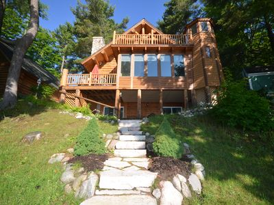 Photo for Our Log Home -Spacious log home on West Bay in Suttons Bay-Pet ok