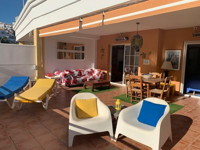 Photo for One Minute Walk To Burriana Beach With spectacular sea views from our terrace