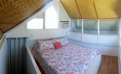 3rd floor Master Bedroom w/King Bed.  Ocean, Beach and Mountain Views.  AC