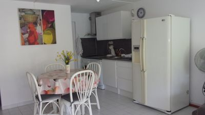 Photo for T3 60m2 - Ground floor garden- 350 m beach RICHELIEU - PARKING - SWIMMING POOL - sleeps 6