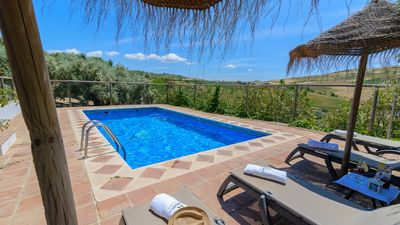 Photo for Traditional Andalusian country house with fenced pool and splendid views