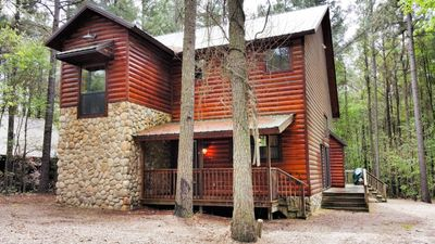 Photo for HICKORY BEAR is located on a beautifully wooded, corner acre in the tranquil, re