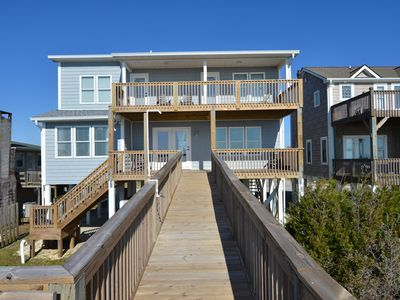 Photo for Enjoy the sounds of the Atlantic from this Beautiful Beach Front Home with 4 bedrooms & 2 1/2  bathrooms