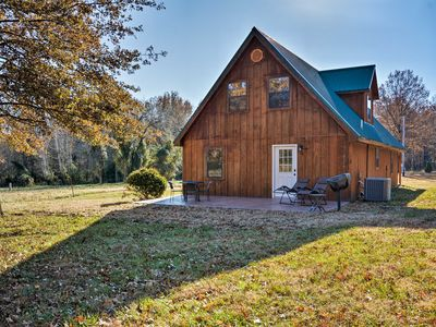 Photo for Luxury Cabin w/Pond, Working Ranch Near Nevada, MO