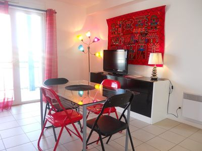 Photo for Face Courant-Charming apartment T3 any comfort - MIMIZAN BEACH