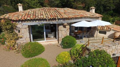 Photo for Stone house for 8 people with sea views, Palombaggia, Porto Vecchio, 5 minutes