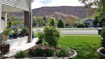 View from front porch and yard.