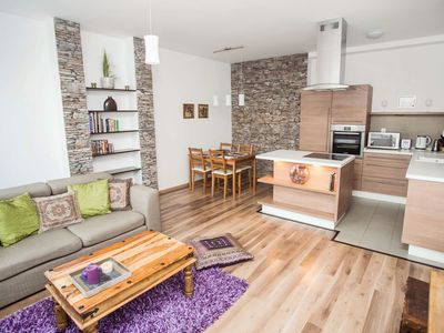 Photo for Beautiful, modern duplex with terrace in the center of Budapest
