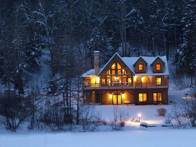 Photo for Beautiful Lakefront Log Home Near Mount Snow