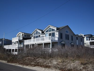 Photo for BEACHFRONT - large beachfront deck -  views to Atlantic City! The AC skyline is lit up at night!