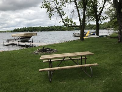 The lake lot is very level and shaded and the picnic table is great during fires