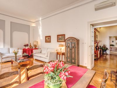 Photo for Elegant and spacious apartment of 160 square meters behind the famous Via Veneto