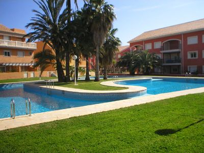 Photo for Javea, Arenal Beach, sleeps 6, large pool, WIFI, air con, 5 mins walk to beach