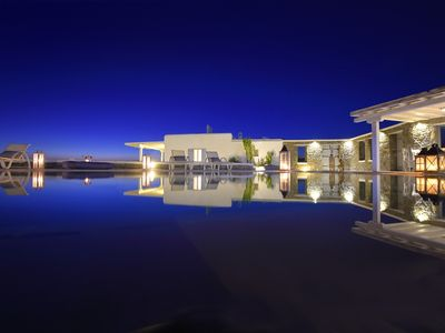 Photo for Mykonos Villa Casa Azzurro 500 m from Super Paradise beach