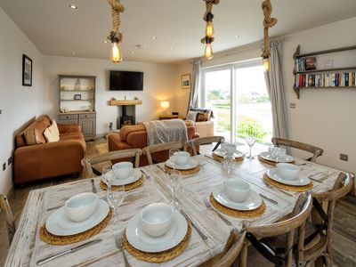 Photo for Situated on the popular Cae Du estate in Abersoch, the sandy beach, shops and restaurants are all ju