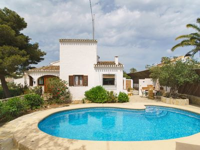 Photo for This 2-bedroom villa for up to 4 guests is located in Javea and has a private swimming pool, air-con