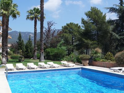 Photo for Apartment 2 people, terrace 12 m2 sea view and castle, SWIMMING POOL and PARKING.