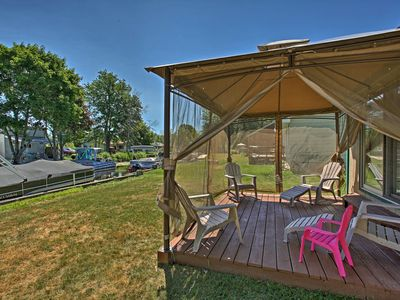 Photo for NEW! Canalfront Houghton Lake Cottage w/Fire Pit
