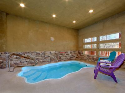 Photo for Brand cabin with Heated Indoor Pool