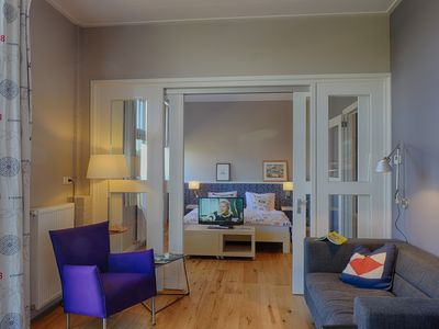 Photo for near the water, maritime furnished apartment, private entrance and pontoon