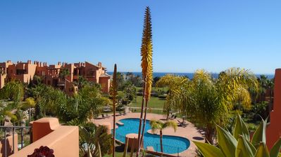 Photo for Luxury South facing Penthouse Apartment with panoramic Sea and golf views