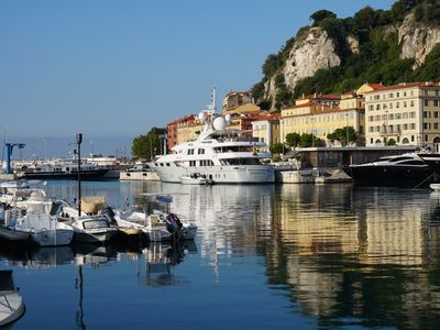 Photo for New listing! Beautiful apartment at the Port de Nice, with a harbour view.