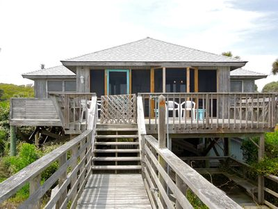 Photo for Rustic oceanfront home with screened porch, free WiFi, deck, & beach access!