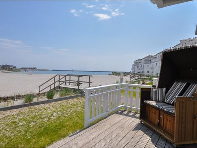 Photo for White beach house in villa style with direct beach access, whirlpool, sauna,