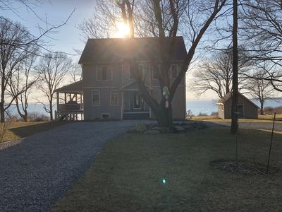 Photo for Private, waterfront with breaktaking sunsets on Prudence Island