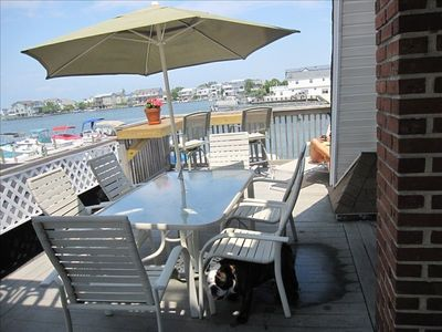 Private Deck overlooking Barnegat Bay