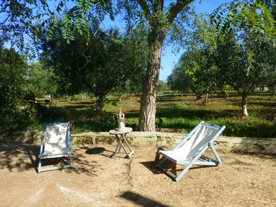 Photo for Large casale with trullo, and swimming pool in the middle of an olive grove.