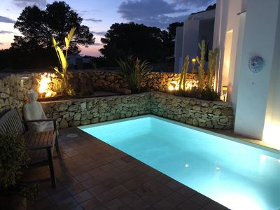 Photo for Very nice typical Ibiza house, with magnificent sea view.