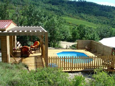 Photo for Modern Chalet in Roquetaillade with Pool