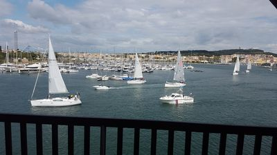 Photo for Sleeps 4 1st line view beautiful harbor and sea
