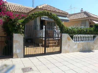 Photo for 2 bed bungalow with wifi, private pool, bbq, sun terraces and solarium