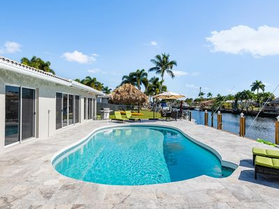 Photo for Sunny Canal Waterfront Home With Heated Pool/Near Beach!
