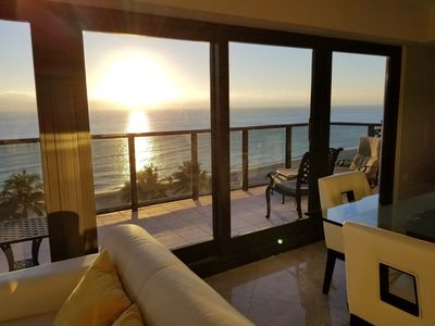 Oceanfront with Full Glass Balcony on Beach - 1102