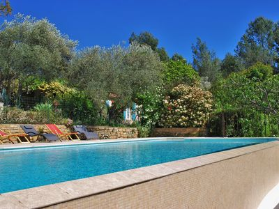 Photo for Villa with swimming pool Part of villa on large wooded grounds of 3500 m2 fenced.
