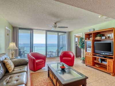 Photo for Gulf-front condo w/ a shared pool, beach access & stunning views!