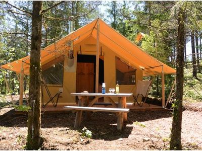 Photo for Camping Huttopia Lanmary *** - Trapper Tent 3 Rooms 5 Persons