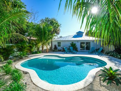 Photo for Adorable 3 bedroom home, just steps to the best beach access! Private pool!