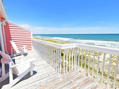 Photo for NEW LISTING! Oceanfront home with a wide, white sandy beach