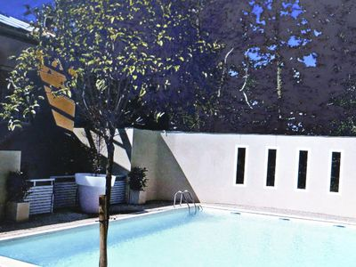 Photo for Biarritz - Anglet: Cozy T2 with pool in greenery