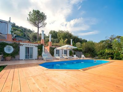 Photo for MODERN VILLA WITH PRIVATE POOL TERRACES PATIO & GARDEN - FREE WIFI