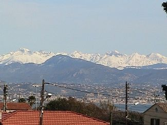 View of Alps from apartment